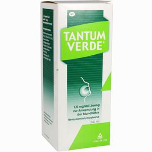 Abbildung von Tantum Verde 1.5mg/ml Lösung zur Anwendung in der Mundhöhle  240 ml