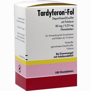 Abbildung von Tardyferon- Fol Depot- Eisen(ii)- Sulfat mit Folsäure Filmtabletten 100 Stück