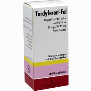 Abbildung von Tardyferon- Fol Depot- Eisen(ii)- Sulfat mit Folsäure Filmtabletten Pierre fabre pharma 50 Stück
