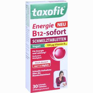 Abbildung von Taxofit Energie B12 - Sofort Schmelztabletten  30 Stück