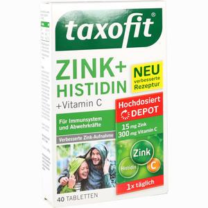 Abbildung von Taxofit Zink + Histidin Depot Tabletten 40 Stück