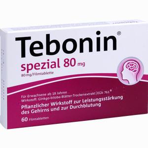 Abbildung von Tebonin Spezial 80mg Filmtabletten 60 Stück
