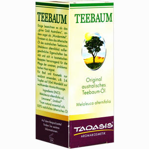 Abbildung von Teebaum- Öl im Umkarton  30 ml