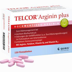 Abbildung von Telcor Arginin Plus Filmtabletten 120 Stück