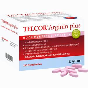 Abbildung von Telcor Arginin Plus Filmtabletten 240 Stück