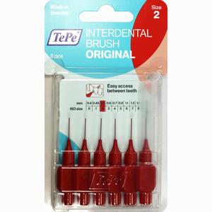 Abbildung von Tepe Interdentalbürste Rot 0.5mm Zahnbürste 6 Stück