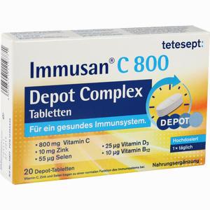 Abbildung von Tetesept Immusan C 800 Depot Complex Tabletten 20 Stück
