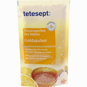 Abbildung von Tetesept Sinnenperlen Goldzauber Salz 80 g