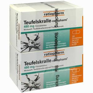 Abbildung von Teufelskralle- Ratiopharm Filmtabletten 200 Stück