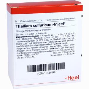 Abbildung von Thallium Sulfuricum- Injeel Ampullen  10 Stück