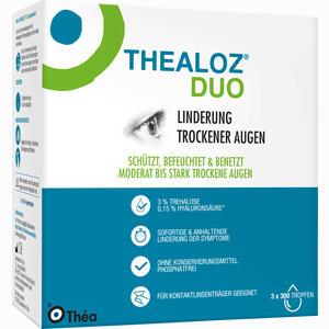 Abbildung von Thealoz Duo Augentropfen 3 x 10 ml