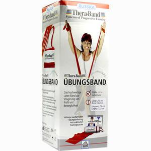 Abbildung von Thera- Band Travel 2. 5m Mittel Stark Rot 1 Stück