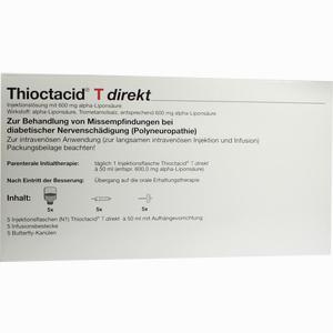 Abbildung von Thioctacid T Direkt + Zubehör Ini 5 x 50 ml