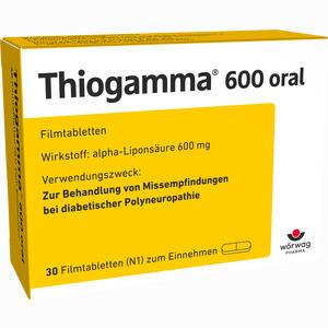 Abbildung von Thiogamma 600 Oral Filmtabletten 30 Stück