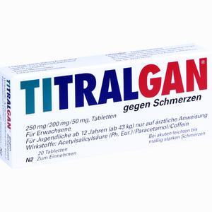 Abbildung von Titralgan gegen Schmerzen Tabletten 20 Stück