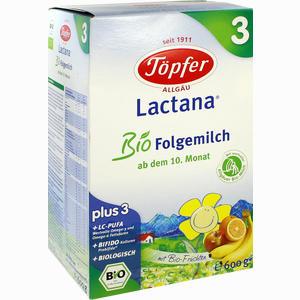 Abbildung von Töpfer Lactana Bio Folgemilch 3 Pulver 600 g