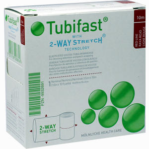 Abbildung von Tubifast 2- Way- Stretch Rot (3.5 Cm Breit 10 M Verband 1 Stück