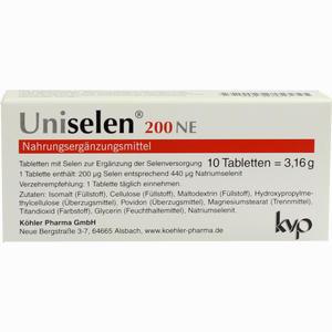 Abbildung von Uniselen 200 Ne Tabletten 10 Stück