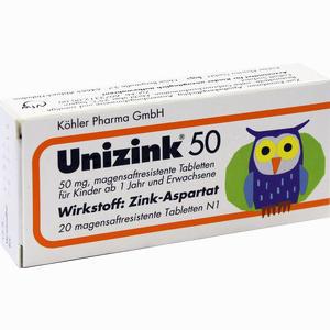 Abbildung von Unizink 50 Tabletten 20 Stück