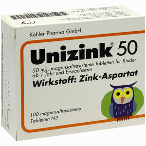 Abbildung von Unizink 50 Tabletten 100 Stück