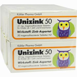 Abbildung von Unizink 50 Tabletten 10 x 50 Stück