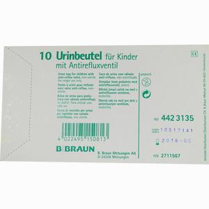 Abbildung von Urinbeutel für Kinder mit Antirefluxventil  10 Stück