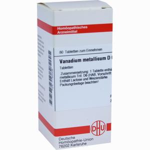 Abbildung von Vanadium Met D6 Tabletten 80 Stück