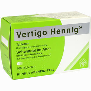 vertigo hennig tabletten 100 st ck preisvergleich. Black Bedroom Furniture Sets. Home Design Ideas