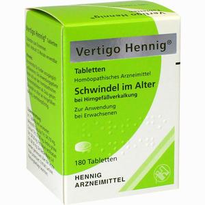 Abbildung von Vertigo Hennig Tabletten  180 Stück