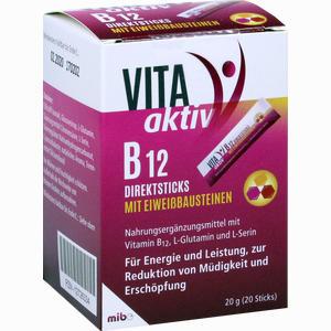 Abbildung von Vita Aktiv B 12 Direktsticks mit Eiweißbausteinen Beutel 20 Stück