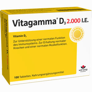 Abbildung von Vitagamma D3 2.000 I.e.vitamin D3 Nem Tabletten 100 Stück