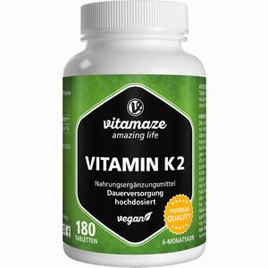 Abbildung von Vitamaze Vitamin K2 Tabletten 180 Stück