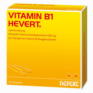 Abbildung von Vitamin B 1 Hevert Ampullen 100 Stück
