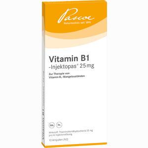 Abbildung von Vitamin B 1 Injektop 25mg Ampullen 10 x 1 ml