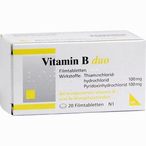 Abbildung von Vitamin B Duo Filmtabletten 20 Stück