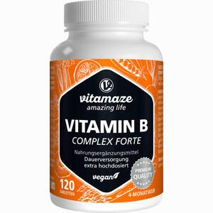 Abbildung von Vitamin B- Komplex Extra Hochdosiert Vispura Tabletten 120 Stück