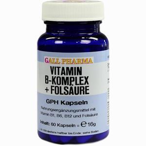 Abbildung von Vitamin B- Komplex+folsäure Gph Kapseln  60 Stück