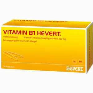 Abbildung von Vitamin B1 Hevert Ampullen 50 Stück