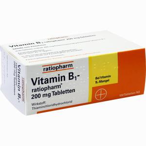 Abbildung von Vitamin B1- Ratiopharm 200mg Tabletten  100 Stück