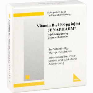 Abbildung von Vitamin B12 1000ug Inject Jenapharm Ampullen 5 Stück