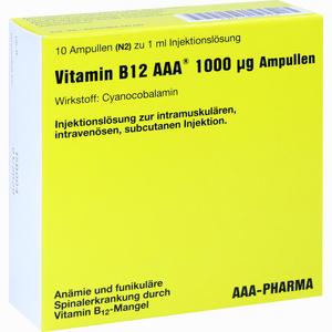 Abbildung von Vitamin B12 Aaa 1000ug Ampullen 10 x 1 ml