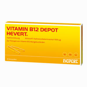 Abbildung von Vitamin B12 Depot Hevert Ampullen 10 Stück