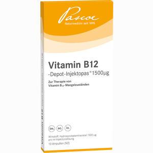 Abbildung von Vitamin B12 Depot Injektopas 1500ug Ampullen 10 x 1 ml