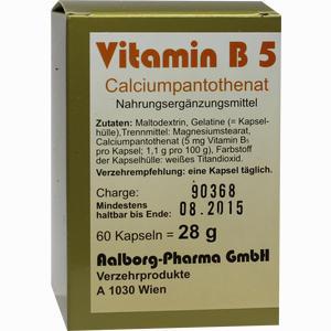Abbildung von Vitamin B5 Kapseln Aalborg pharma 60 Stück