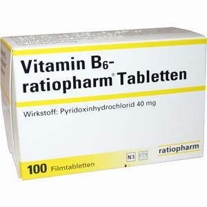 Abbildung von Vitamin- B6- Ratiopharm 40mg Filmtabletten  100 Stück