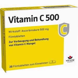 Abbildung von Vitamin C 500 Filmtabletten  20 Stück