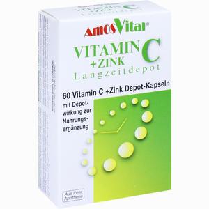 Abbildung von Vitamin C + Zink Depot Kapseln  Amosvital 60 Stück