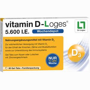 Abbildung von Vitamin D- Loges 5.600 I.e. Familienpackung Kautabletten 60 Stück