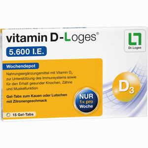Abbildung von Vitamin D- Loges 5.600 I.e. Kautabletten 15 Stück