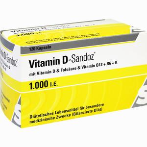 Abbildung von Vitamin D- Sandoz 1000 I.e. Osteo Complex Kapseln 120 Stück